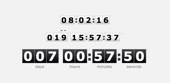 TimeTo - jQuery plugin timer countdown digital clock