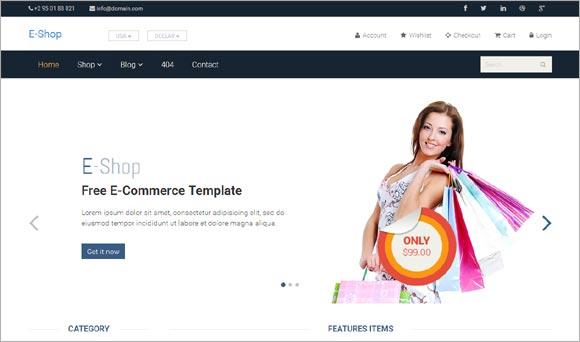 E-Shop-Free-Bootstrap
