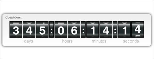 Fancy Countdown – jQuery plugin