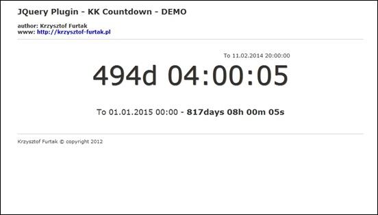 jQuery Plugin – KK Countdown