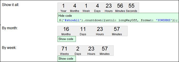 jQuery Countdown