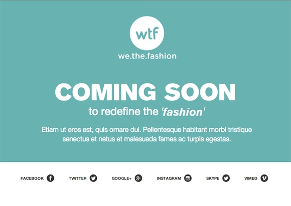 We the fashion coming soon template