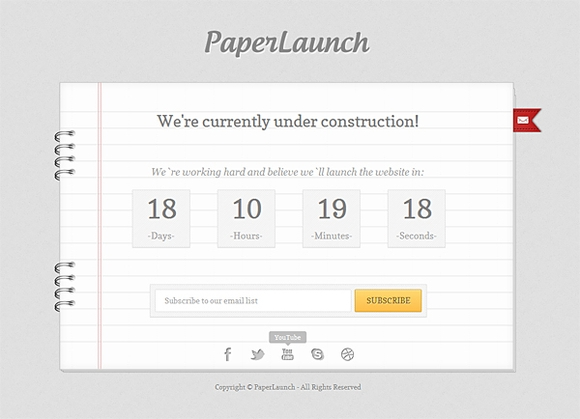 Paperlaunch - free under construction templates