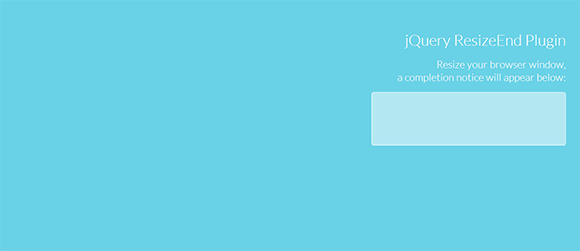 jQuery Resize End