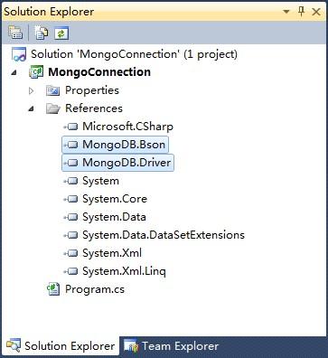 通C#访问MongoDB数据