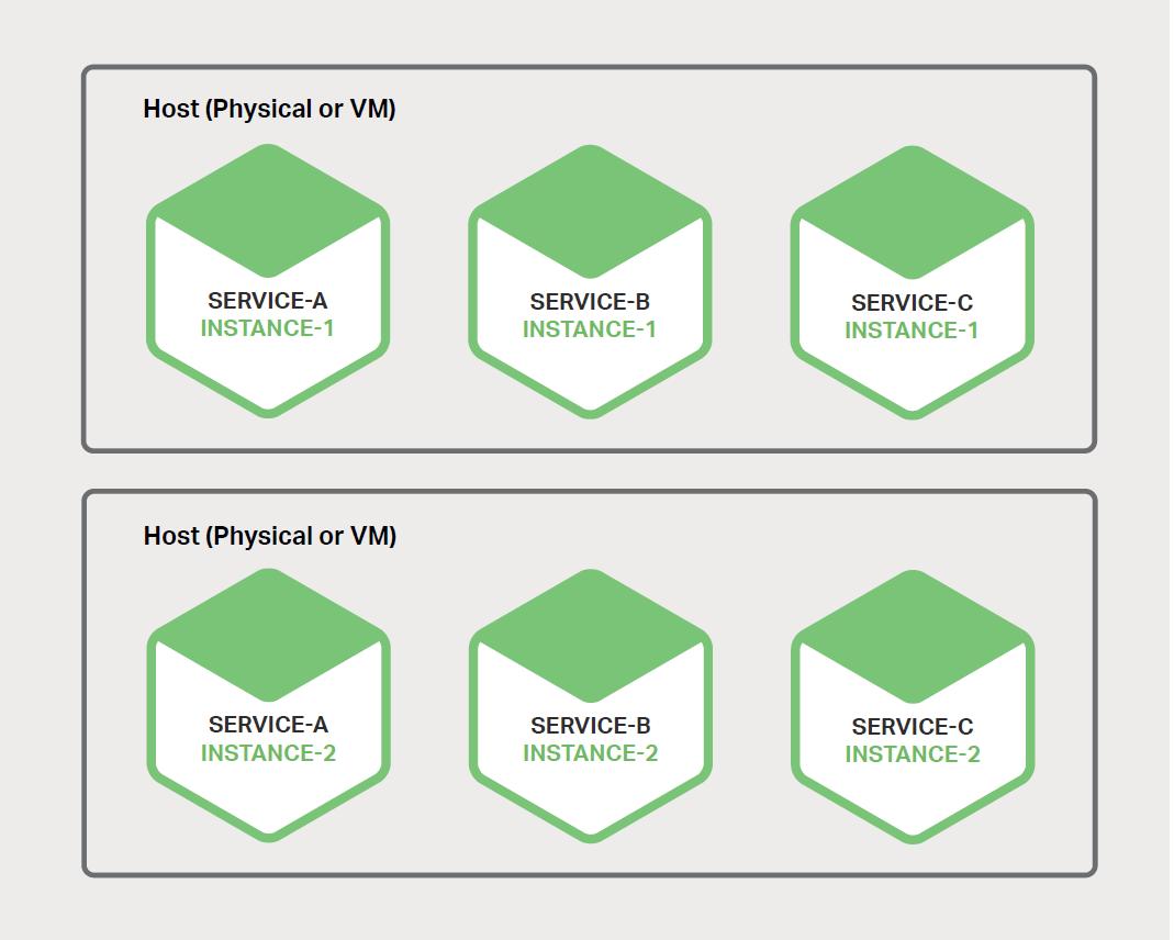 图 6-1、主机可支持多个服务实例